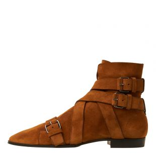 Balmain Boots Jack Ankle RM1C001LCWE 8FD Tan Suede