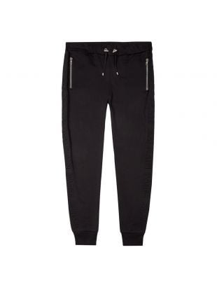 balmain joggers embossed UH15632I339 0PA black