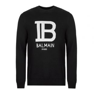 Balmain Sweater | SH03207K171 EAB Black / White