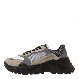 Balmain Low Sneakers RM1C018TWTM YAA Grey/Beige