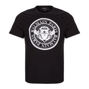 Balmain T-Shirt Medallion SH11135I107 EAB Black