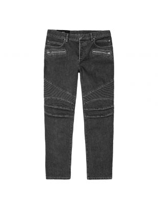 Monogram Tapered Jeans - Black