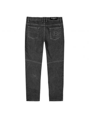 Monogram Tapered Jeans - Black
