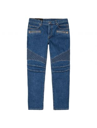 Monogram Tapered Jeans - Blue
