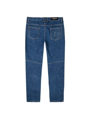 Monogram Tapered Jeans - Blue