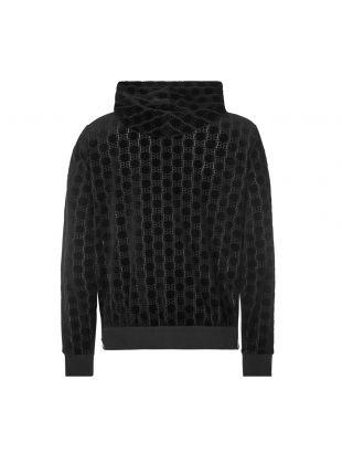 Hoodie Monogram  Velvet - Black