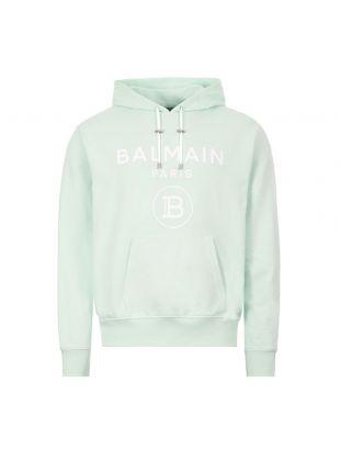 balmain hoodie TH03823J078 7AB pale green
