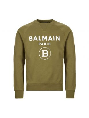 balmain sweatshirt TH13279 I245 7UA khaki