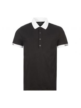 balmain polo shirt TH010081268 0PA black