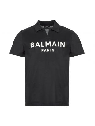 balmain polo shirt | TH11184Z410 6UB navy