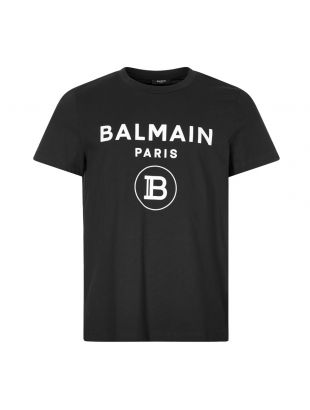 Balmain Flock T-Shirt | UH01601I394 0PA Black | Aphrodite