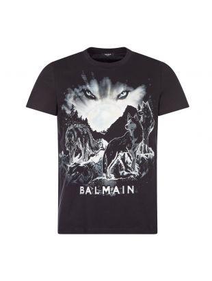 T-Shirt Wolf Print - Black