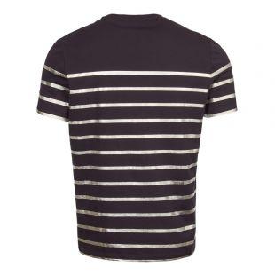 T-Shirt Logo - Navy / Silver Stripe