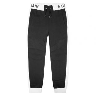Balmain Sweatpants Cuffed | Black TH05786I268 0PA | Aphrodite