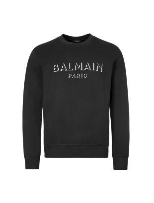 balmain sweatshirt 3d UH13277I364 0PA black