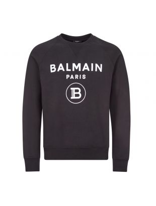 balmain sweatshirt flock UH13279I372 EAB black