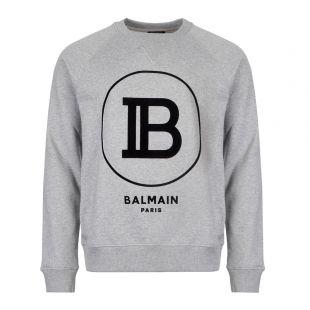 Balmain Sweatshirt   SH03279I199 9UB Logo Grey