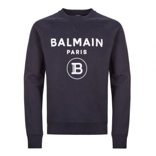 balmain sweatshirt TH13279 I245 6UB navy