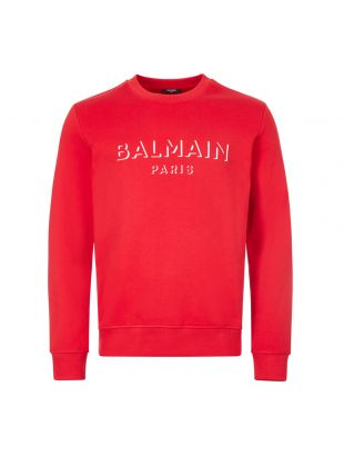 balmain sweatshirt 3d UH13277I364 3AA red