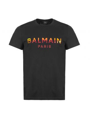 Balmain T-Shirt Hologram Logo | TH0160 1I309 EAL Black | Aphrodite1994