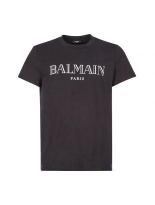 balmain t-shirt logo UH1160I1312 EAB black