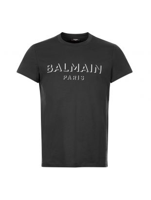 balmain t-shirt 3d UH11601I364 0PA black