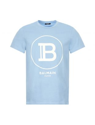 balmain t-shirt TH016011232 SAB blue