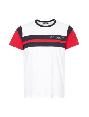 balmain t-shirt UH11265I367 OFA white
