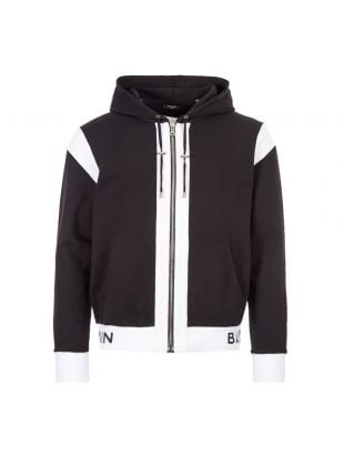 Balmain Zipped Hoodie | TH037781268 0PA Black | Aphrodite1994