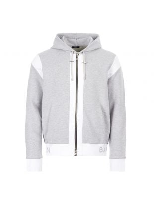 Balmain Zipped Hoodie | TH037781268 9UB Grey | Aphrodite1994