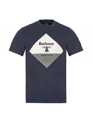 Barbour T-Shirt Diamond Logo MTS0474 NY91 Navy