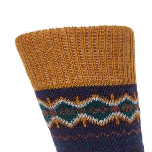 Socks – Fairisle Navy / Green