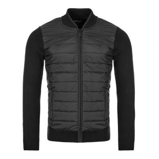 Barbour International Baffle Zip Top MKN0937|BK31 Black At Aphrodite Clothing
