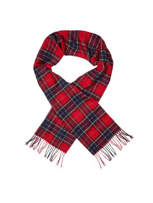 Barbour Scarf   USC0001 RE35 Red Tartan