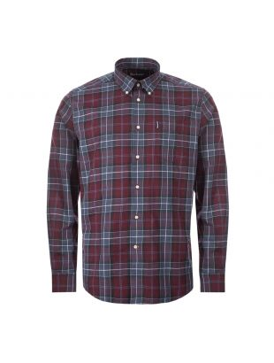 barbour connel shirt MSH405 RE94 merlot