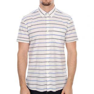 barbour director shirt in whisper white