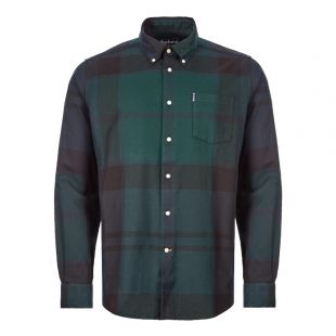 Barbour Dunoon Shirt | MSH4284|BK71 Green And Black | Aphrodite Clothing