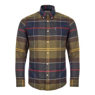 Barbour Tartan Shirt   MSH3235 TN52 Green / Red