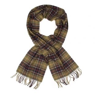 barbour lambswool scarf USC0001TN11 green classic tartan lambswool