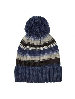 Beanie - Grey / Blue Stripe