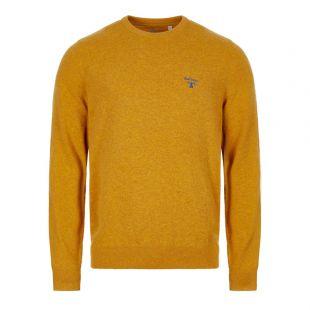 Barbour Knitted Sweatshirt Beacon Logo  MKN1199 YE95 Golden / Yellow