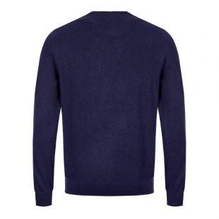 Knitted Sweatshirt Beacon Logo - Navy