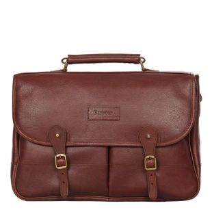 barbour briefcase UBA0011BR71 brown leather