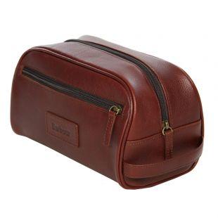 Washbag - Brown Leather