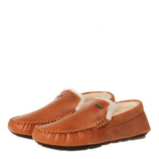 Monty Leather Slippers – Tan