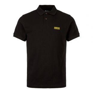 Barbour International Polo Shirt Logo | MML0914 BLK31 Black