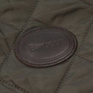 Dog Coat - Olive Quilted