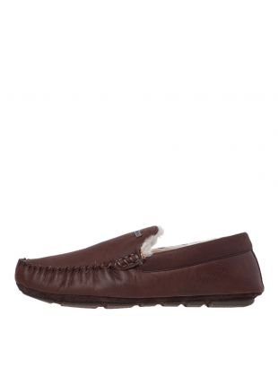 Barbour Monty Slippers | MSL0001 BR71 Dark Brown