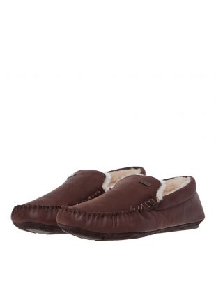 Monty Slippers – Dark Brown