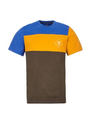 Barbour Beacon T-Shirt | MTS0640 GN91 Blue / Orange / Green Panel